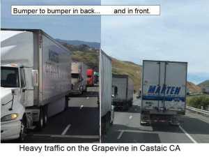 heavy traffic grapevine