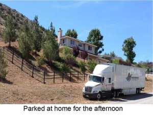 parked at home